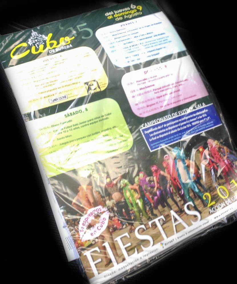 Cartel de Fiestas de Cubo de Bureba 2015